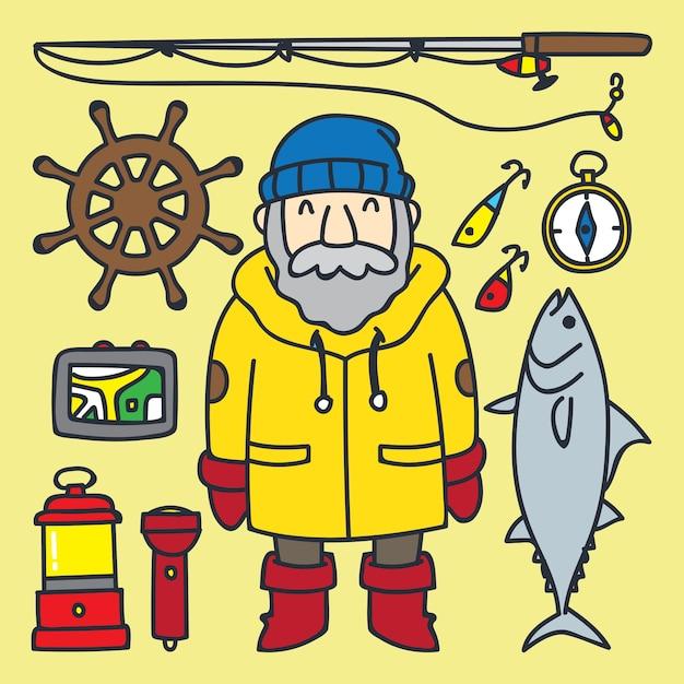 Pescador Dibujo