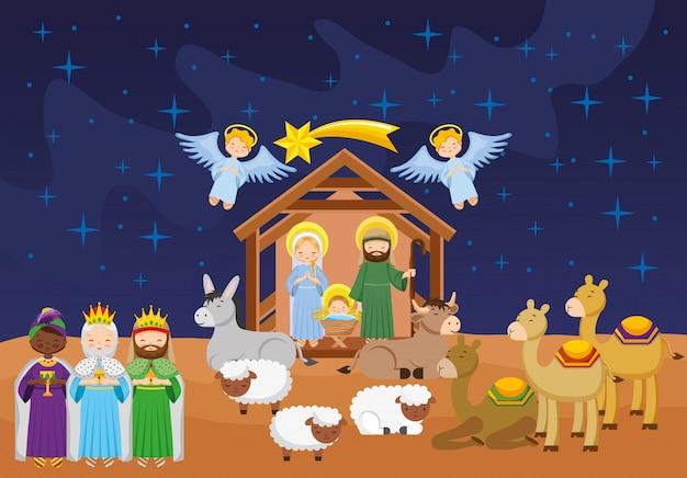 Fotos De El Pesebre De Jesus.Pesebre Con Bebe Jesus Dibujos Animados Descargar