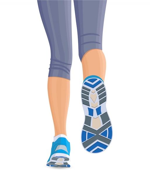 Piernas femeninas corriendo vector gratuito
