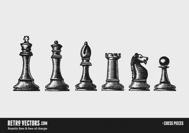 Piezas de ajedrez | Descargar Vectores gratis