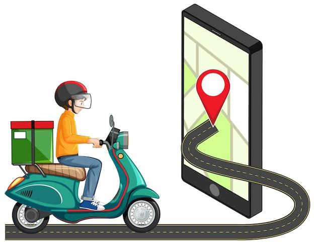Pin de ubicación en la aplicación móvil vector gratuito