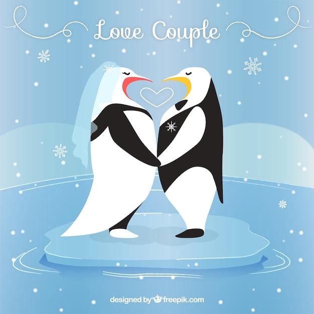 Pinguinos Enamorados