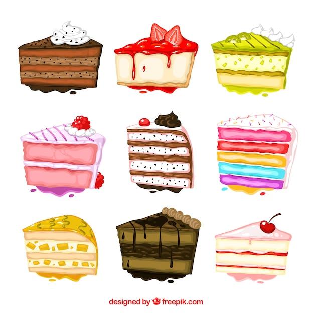 Vintage Cake Design Vector : Rebanada De Pastel Fotos y Vectores gratis