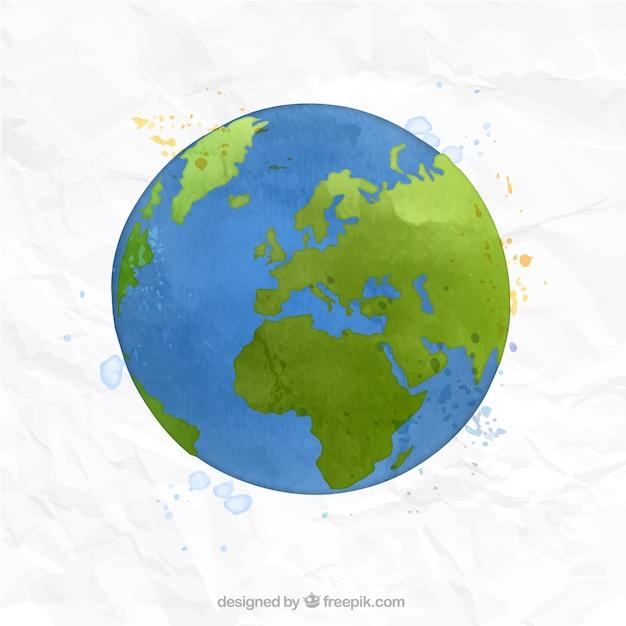 Pintado a mano mapa del mundo descargar vectores gratis - Papel pintado mapa del mundo ...