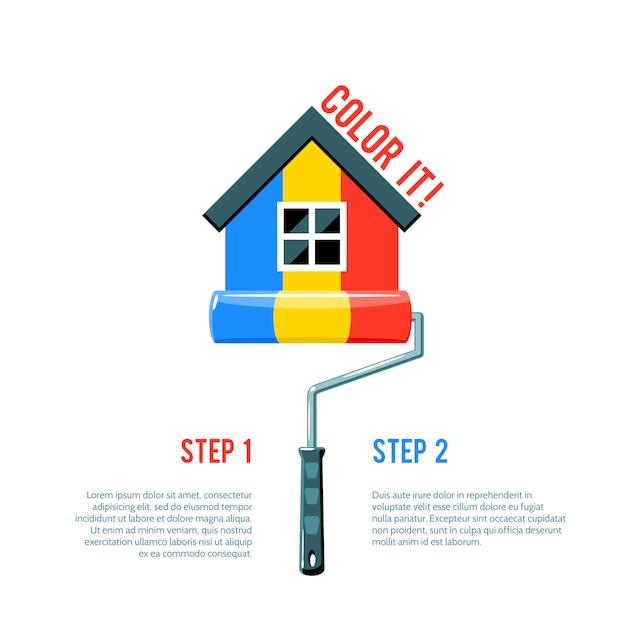 Pintar icono de la casa vector gratuito
