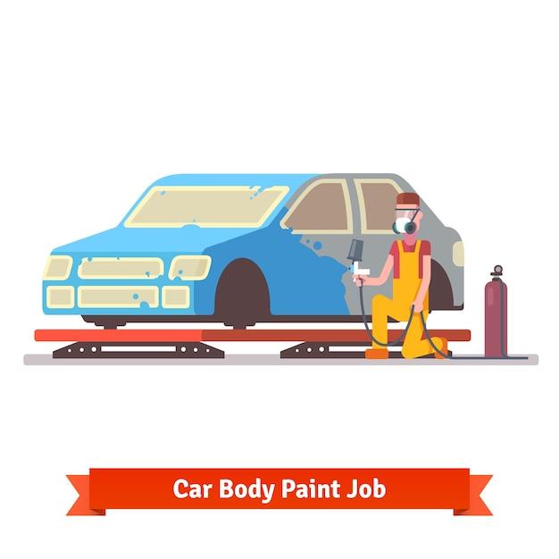 Pintura de carrocería vector gratuito