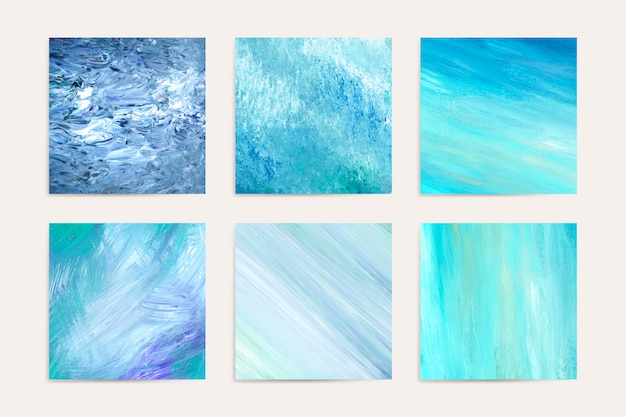 Pinturas abstractas verdes vector gratuito