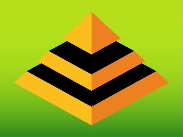2c4b2d40274 Pirámide arquitectura geométrica 3d   Descargar Vectores gratis