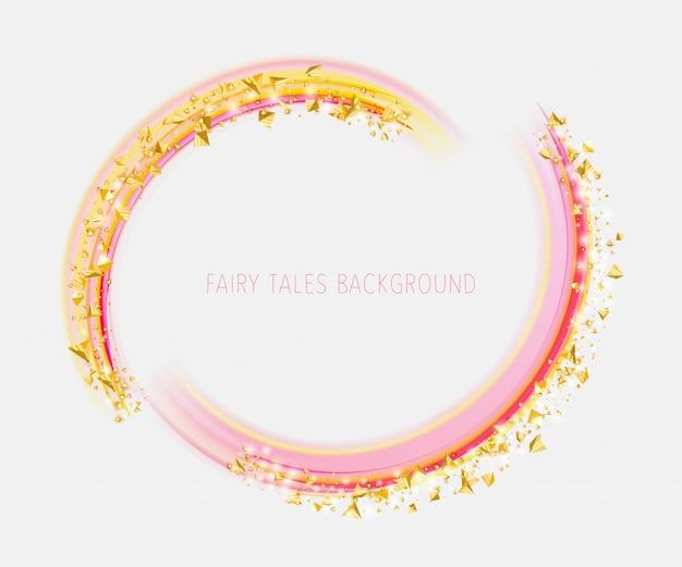 Pirámides doradas en polvo en los arcos rosados Vector Premium