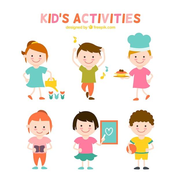 Piso actividades para ni os colecci n descargar vectores for Actividades para ninos de jardin
