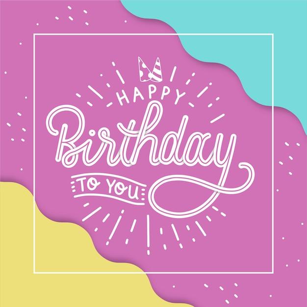 Piso feliz cumpleaños a ti letras vector gratuito