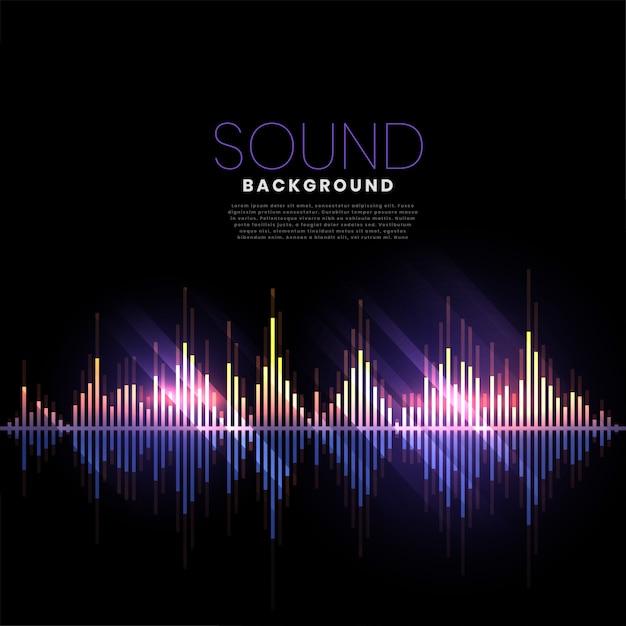 Pista de música audio sonido banner vector gratuito