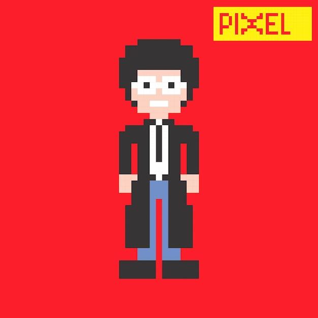 Pixel personaje vector gráfico arte diseño ilustración | Descargar ...