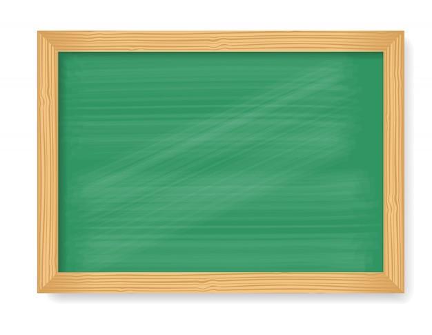 Pizarra de madera aislada sobre fondo blanco vector gratuito