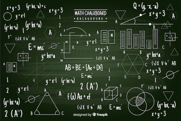 Pizarra de matemáticas vector gratuito