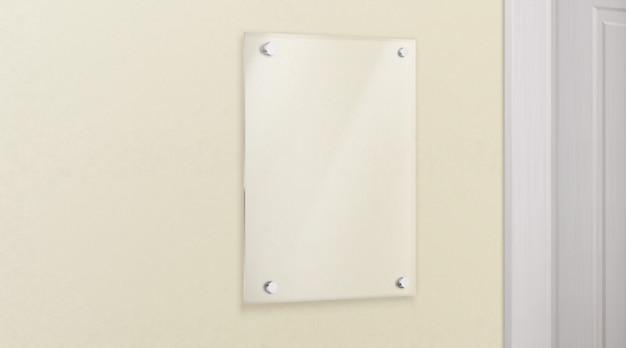 Placa de metacrilato de vidrio en vector realista de pared vector gratuito