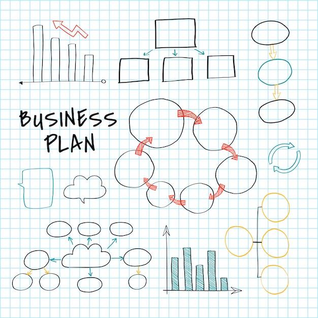 Planeando un nuevo negocio vector gratuito