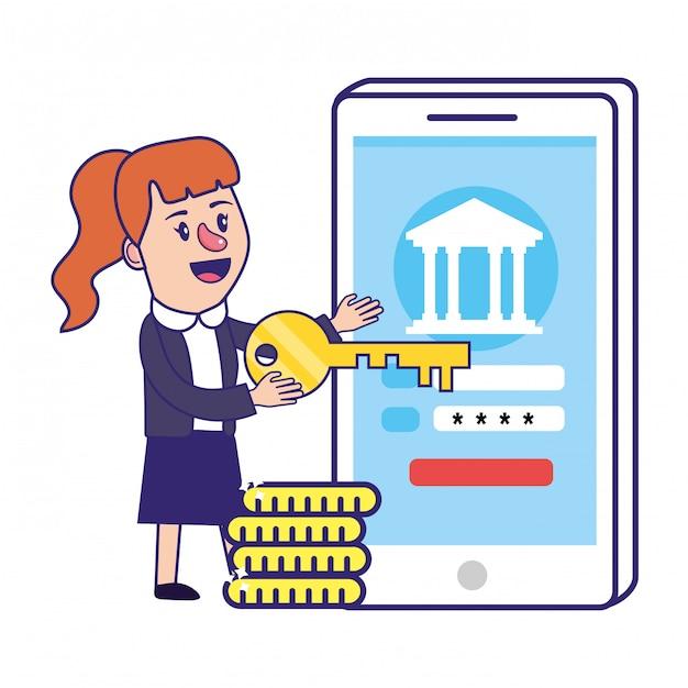 Vector Premium | Planificación financiera de la banca empresaria