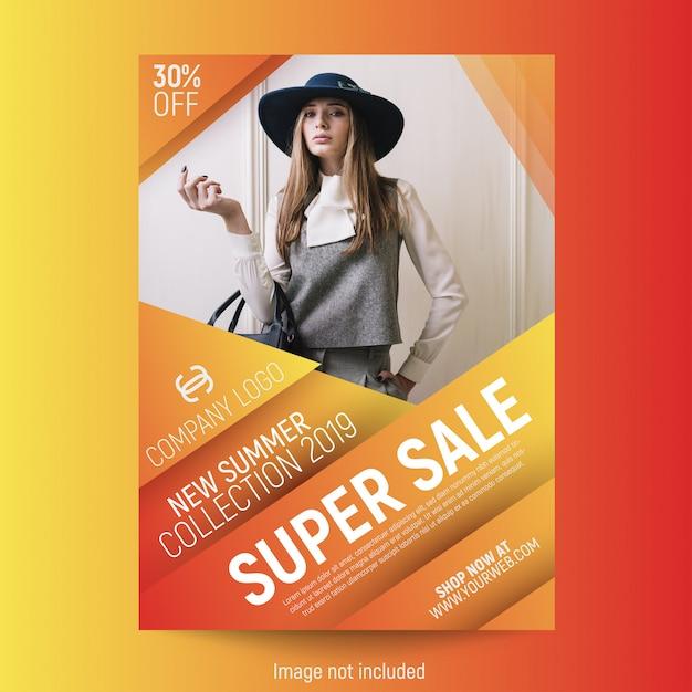 Plantilla abstracta del cartel de la moda vector libre Vector Premium