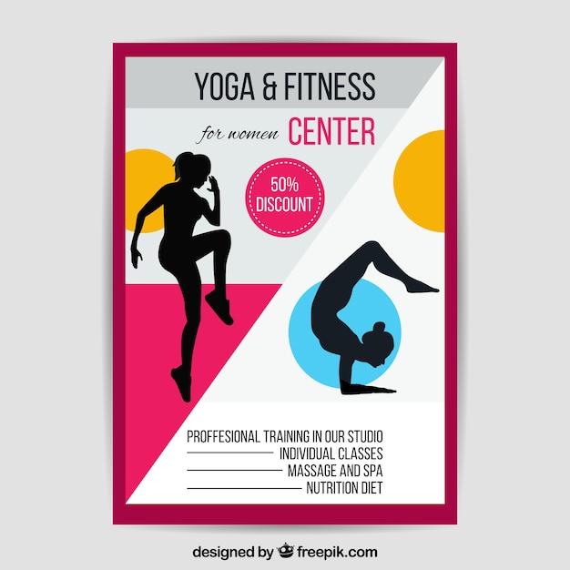 Plantilla abstracta de flyer de gimnasio | Descargar Vectores gratis