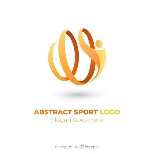 Plantilla abstracta de logotipo de deporte vector gratuito