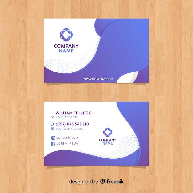Plantilla abstracta de tarjeta de visita vector gratuito