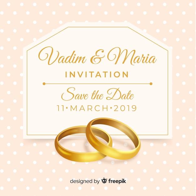 Plantilla de aceptación de invitación de boda vector gratuito