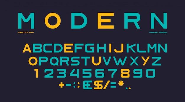 Plantilla de alfabeto moderno vector gratuito