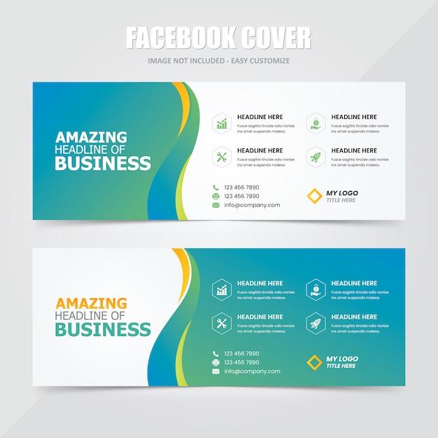 Plantilla de anuncio de banner social de portada de facebook Vector Premium