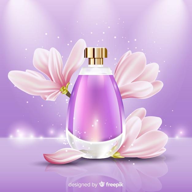 Plantilla de anuncio de perfume vector gratuito