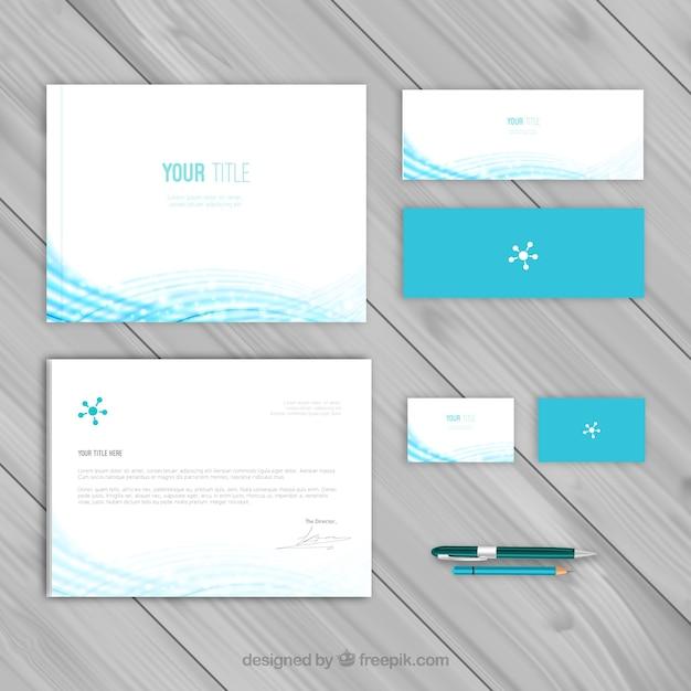 Plantilla azul identidad corporativa | Descargar Vectores gratis