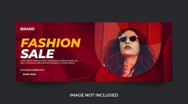Plantilla de banner y anuncio de redes sociales de venta de moda Vector Premium
