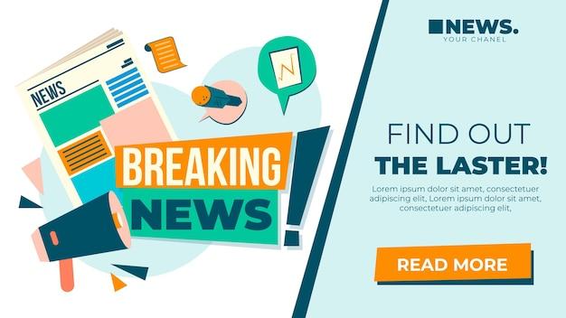 Plantilla de banner de blog de noticias vector gratuito