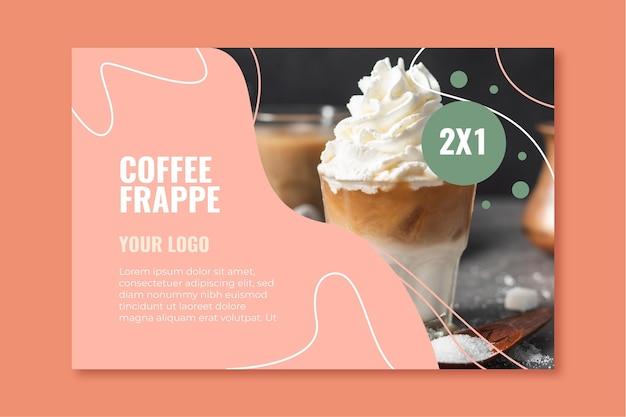 Plantilla de banner para cafetería vector gratuito