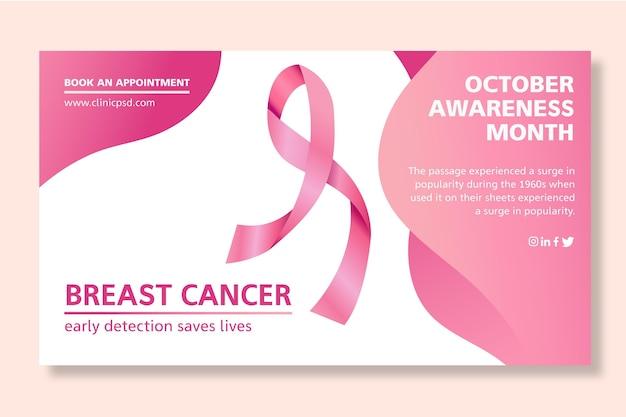 Plantilla de banner de cáncer de mama vector gratuito