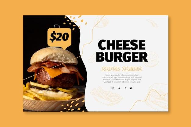 Plantilla de banner de comida americana Vector Premium