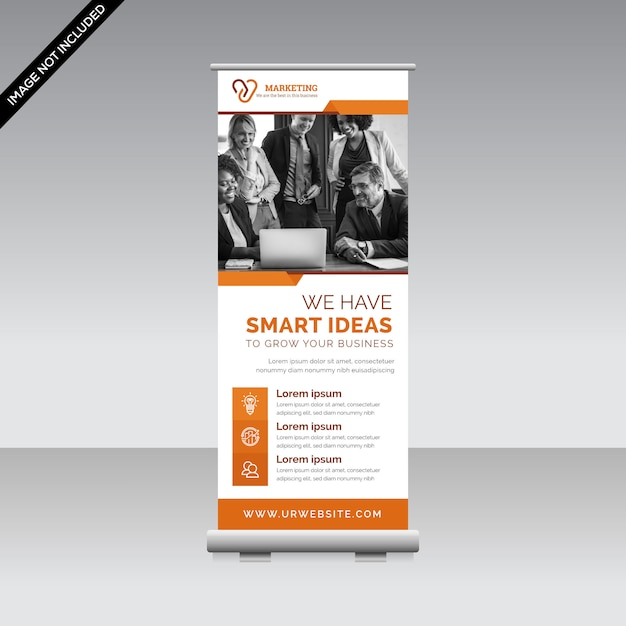 Plantilla de banner corporativo enrollable Vector Premium
