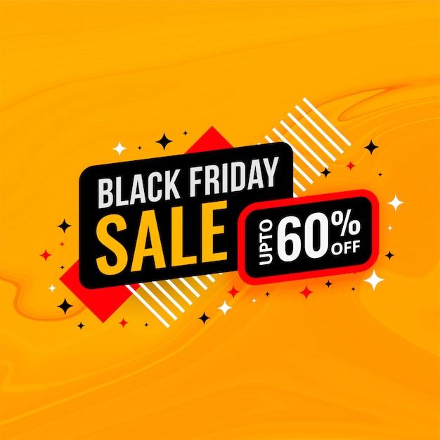 Plantilla de banner de descuento y venta de viernes negro vector gratuito