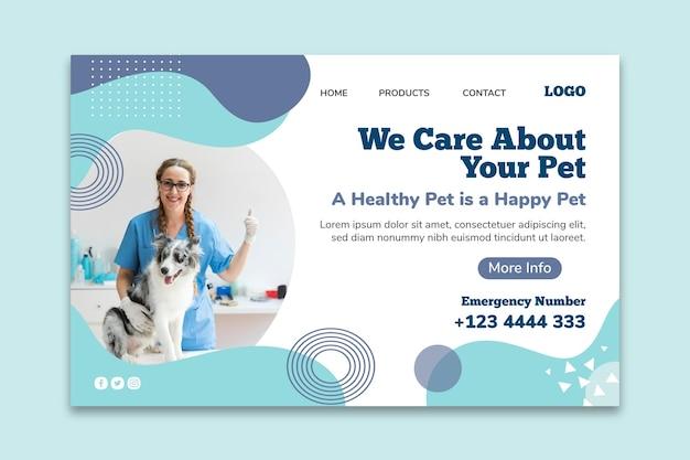 Plantilla de banner horizontal veterinario vector gratuito