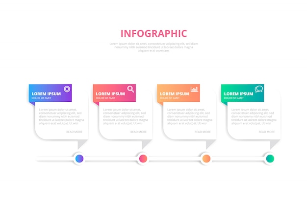 Plantilla de banner infografía degradado vector gratuito