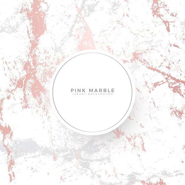 Plantilla de banner de lujo de mármol rosa Vector Premium