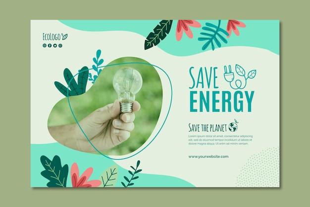 Plantilla de banner de medio ambiente vector gratuito