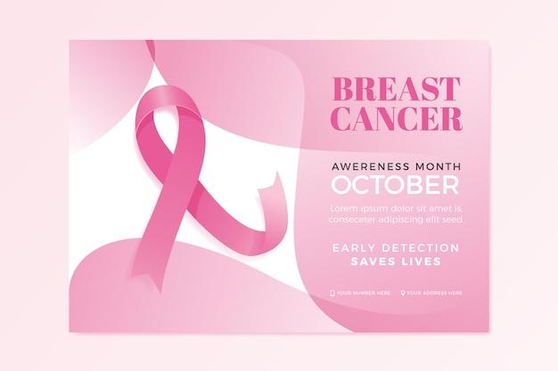 Plantilla de banner del mes de concientización sobre el cáncer de mama vector gratuito