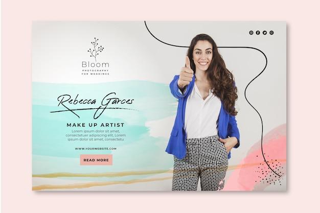 Plantilla de banner de mujer de negocios vector gratuito