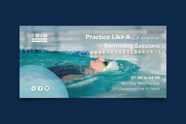 Plantilla de banner de natación vector gratuito
