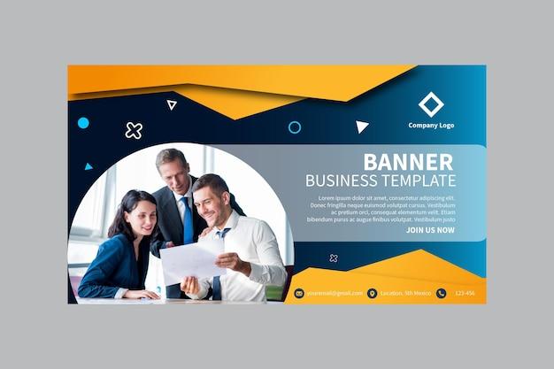 Plantilla de banner de negocios vector gratuito
