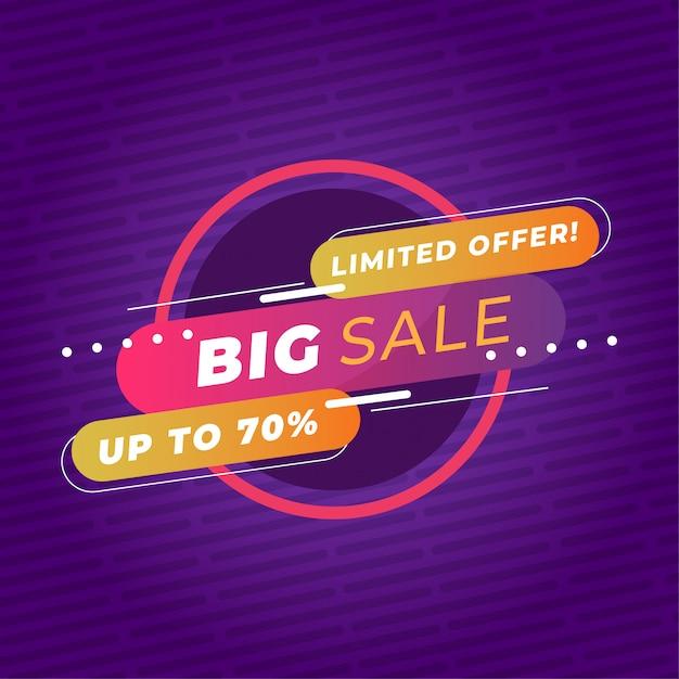 Plantilla de banner de promoción de gran venta colorido vector premium Vector Premium