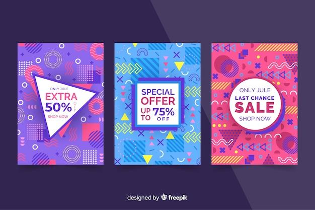 Plantilla de banner para rebajas, mega descuento y ofertas vector gratuito