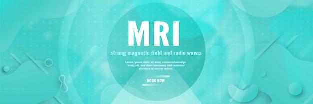 Plantilla de banner para resonancia magnética Vector Premium