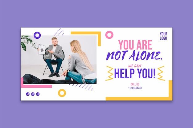 Plantilla de banner de salud mental vector gratuito